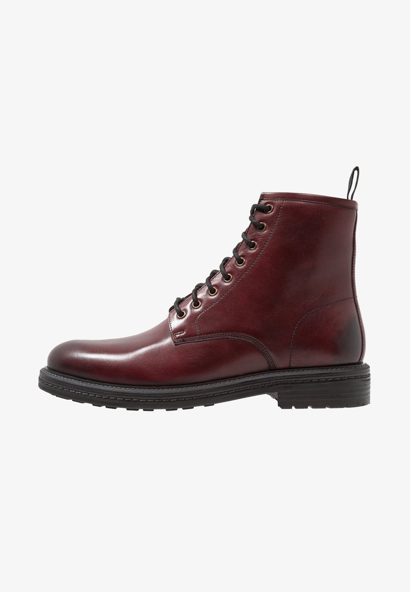Walk London - WOLF LACEUP BOOT - Lace-up ankle boots - wine