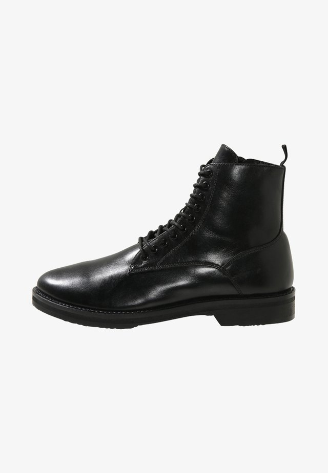 JAZZ LACE UP BOOT - Veterboots - black