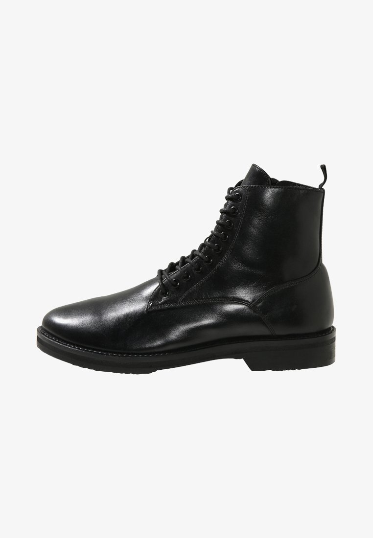 Walk London - JAZZ LACE UP BOOT - Snørestøvletter - black