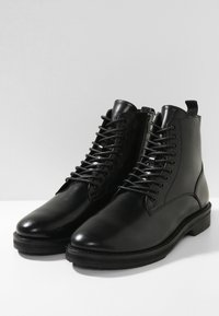 Walk London - JAZZ LACE UP BOOT - Lace-up ankle boots - black