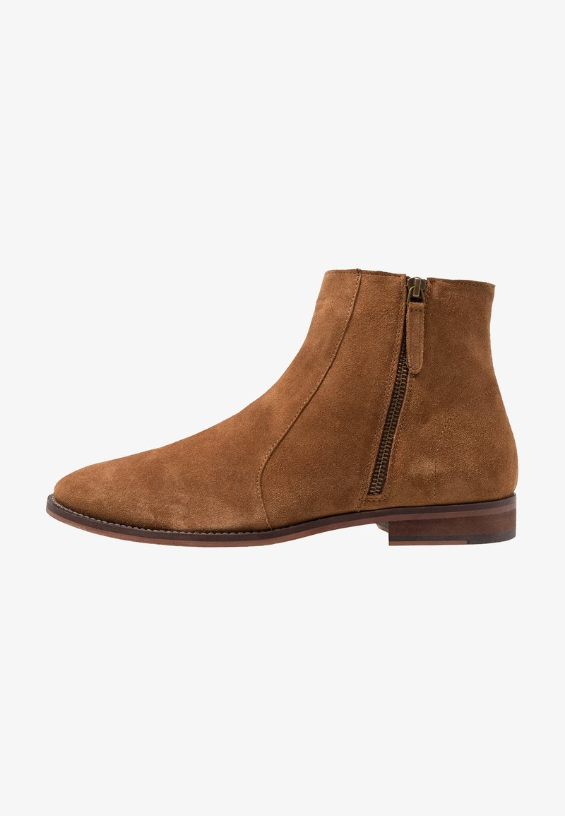 Walk London - DOMINIC ZIP BOOT - Classic ankle boots - tan