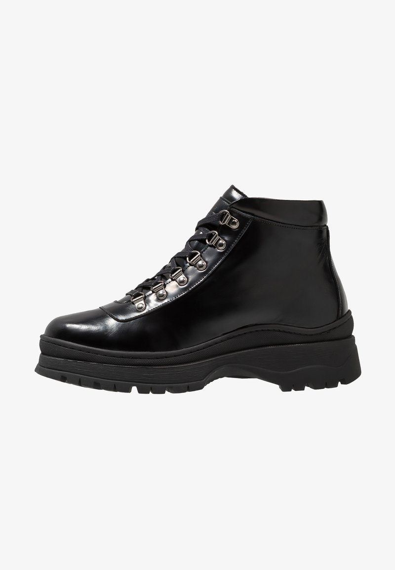 Walk London - MOONWALK BOOT - Lace-up ankle boots - black