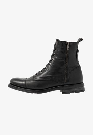 STIGMA ZIP BOOT - Bottines à lacets - black