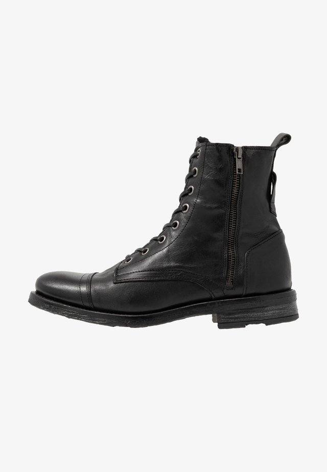 STIGMA ZIP BOOT - Lace-up ankle boots - black