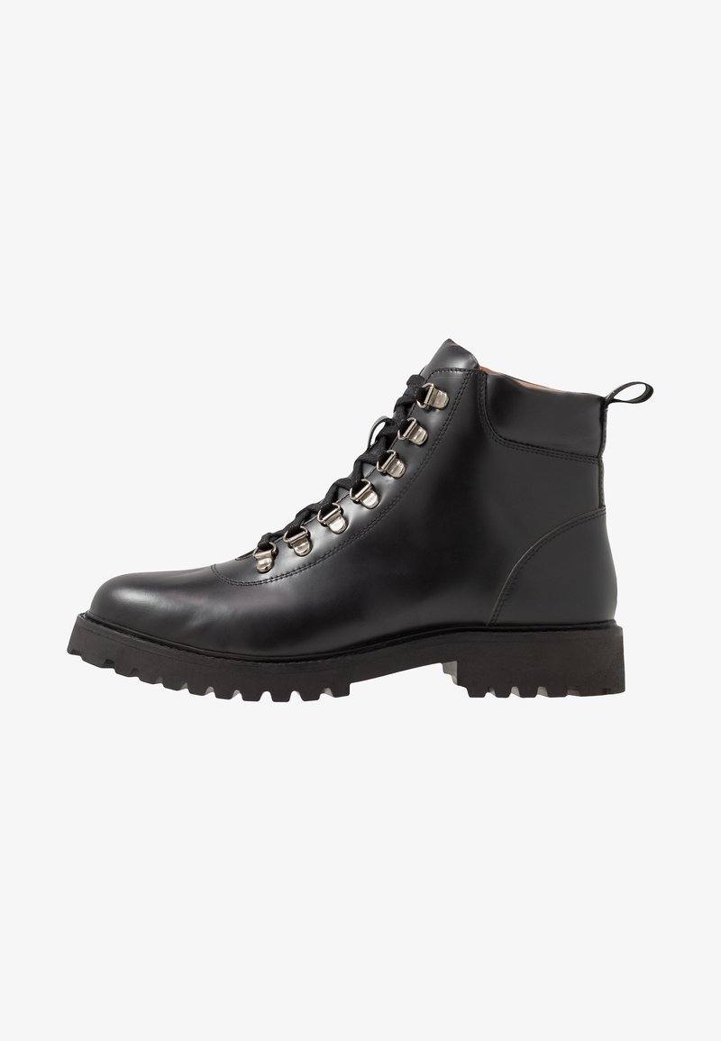 Walk London - SEAN HIKING BOOT - Lace-up ankle boots - smooth black