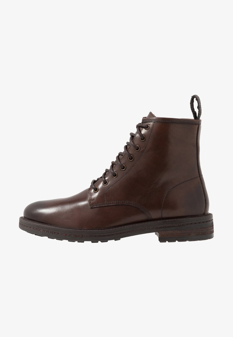 Walk London - WOLF LACE UP - Lace-up ankle boots - brown