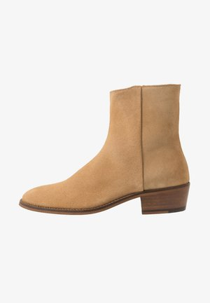HOXTON INSIDE ZIP CUBAN - Classic ankle boots - stone