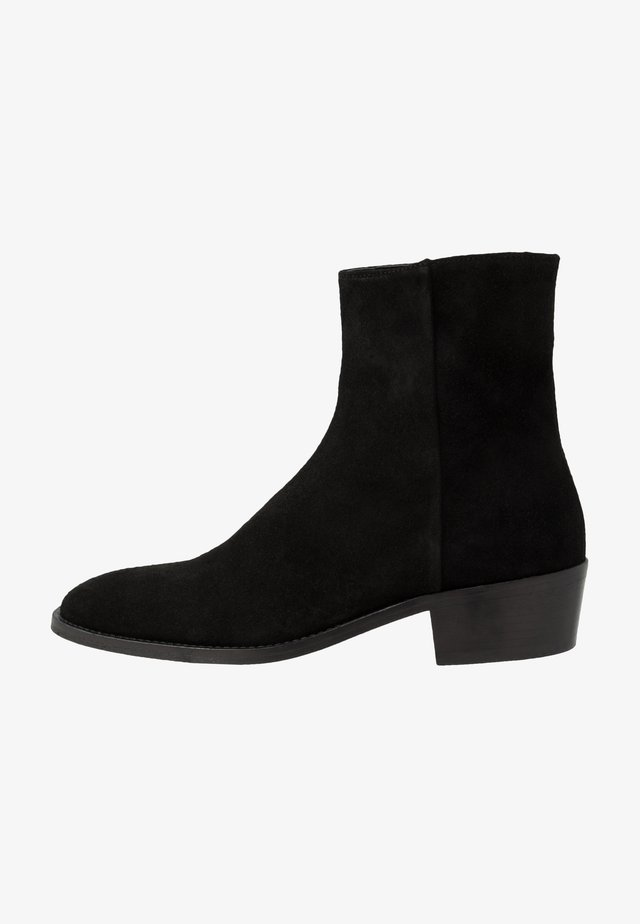 HOXTON INSIDE ZIP CUBAN - Classic ankle boots - black