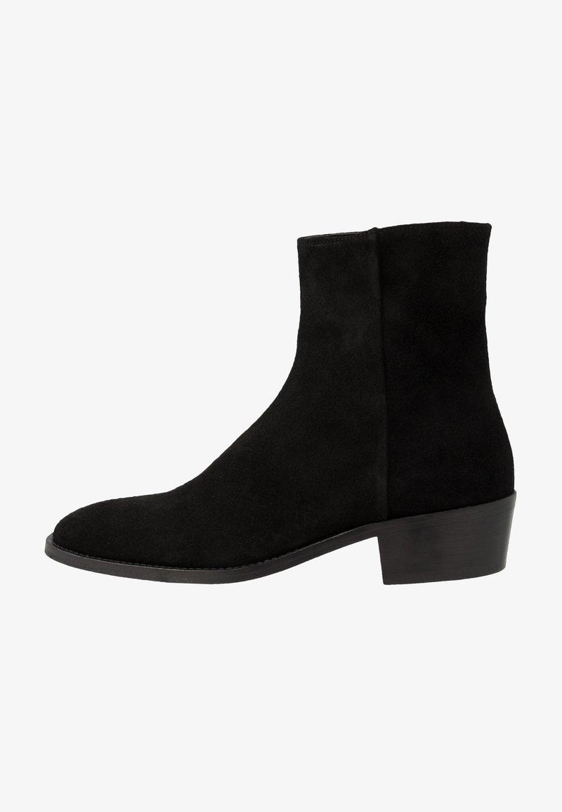 Walk London - HOXTON INSIDE ZIP CUBAN - Classic ankle boots - black