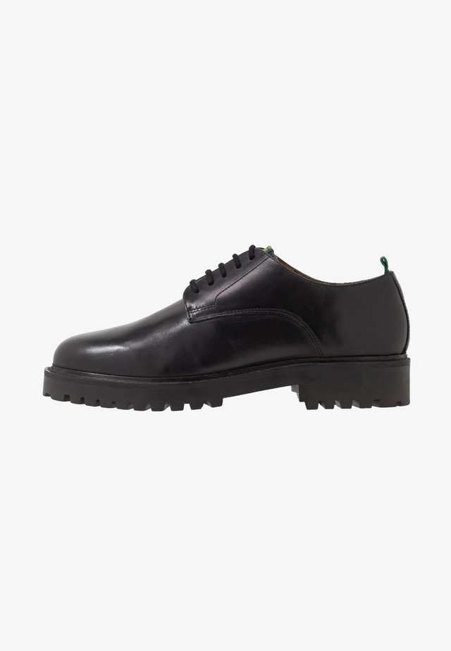 SEAN DERBY WITH TAPE - Lace-ups - black