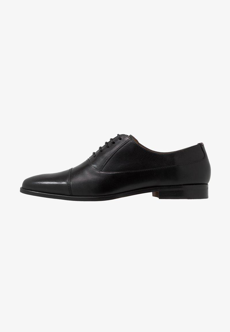 Walk London - HOUSTON TOE CAP - Stringate eleganti - black