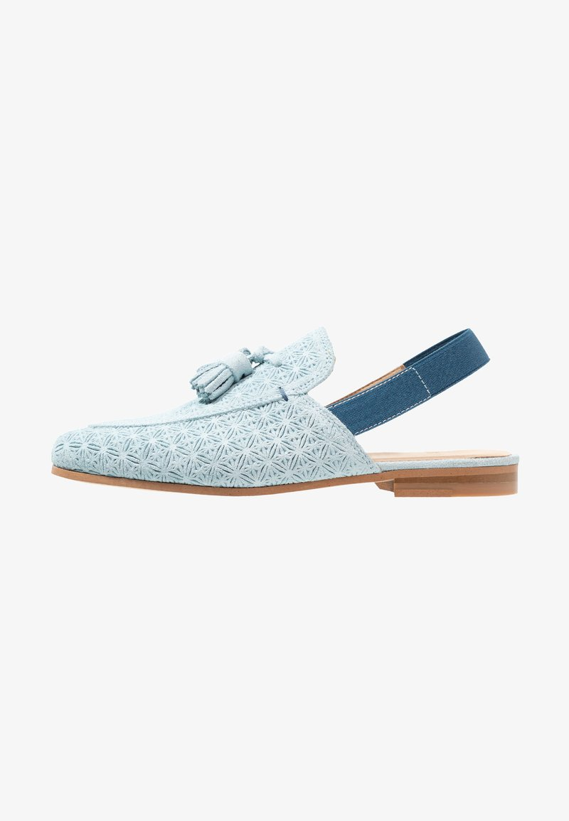 Walk London - JUDE MULE ESLASTIC - Slip-ons - blue