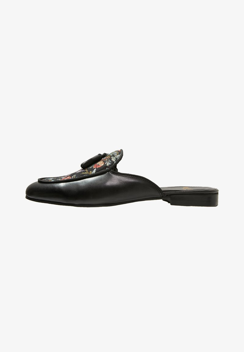Walk London - MULE FLORAL TASSEL - Mules - black