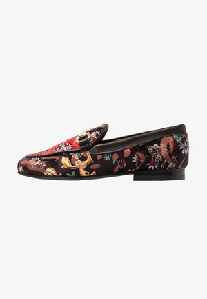 JUDE FLOWER - Loaferit/pistokkaat - black