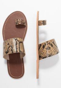 Warehouse - TOE THONG MULE - Sandály s odděleným palcem - light brown - 3