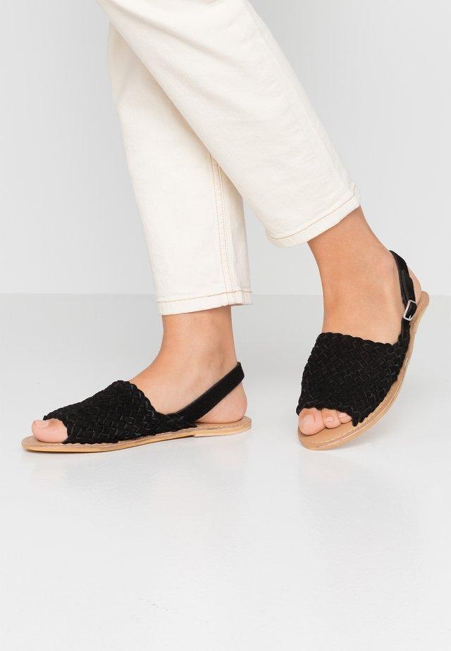 WOVEN SLING BACK - Sandals - black