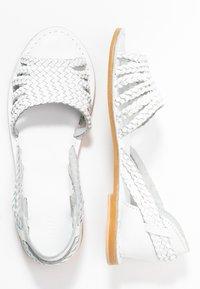 Warehouse - PLAITED HURRACHE - Sandals - white - 3