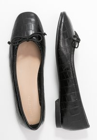 Warehouse - SQUARE TOE BALLET FLAT SHOE - Ballet pumps - black - 3