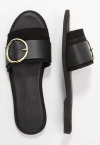 Warehouse - RING DETAIL MULE - Mules - black - 3
