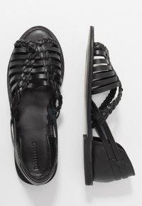 Warehouse - HUARACHE - Sandals - black - 3