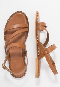 Warehouse - STRAP STUDDED  - Sandals - tan - 3