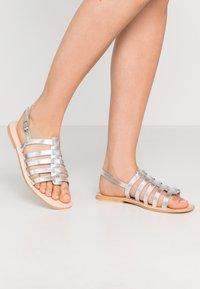 Warehouse - GLADIATOR  - Sandals - silver - 0