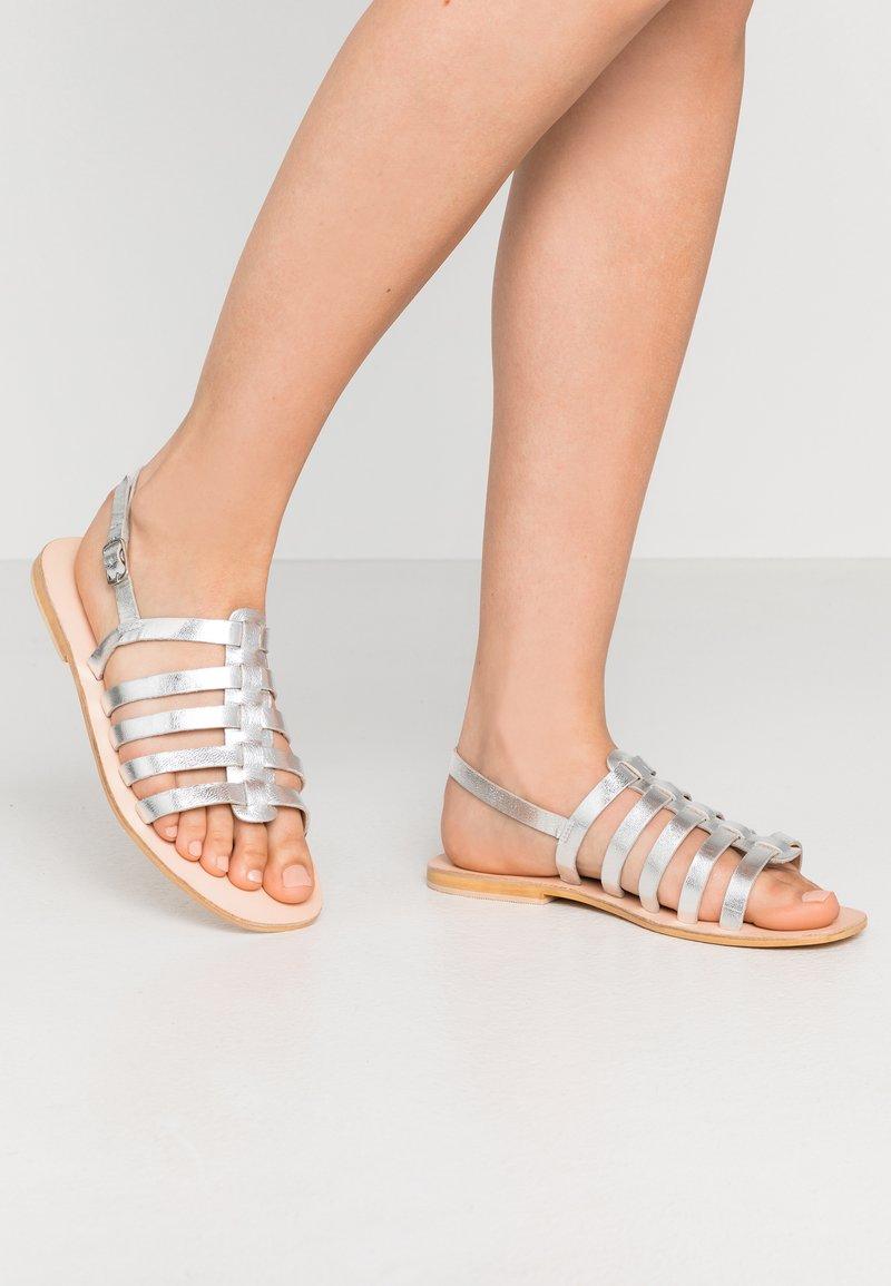 Warehouse - GLADIATOR  - Sandals - silver