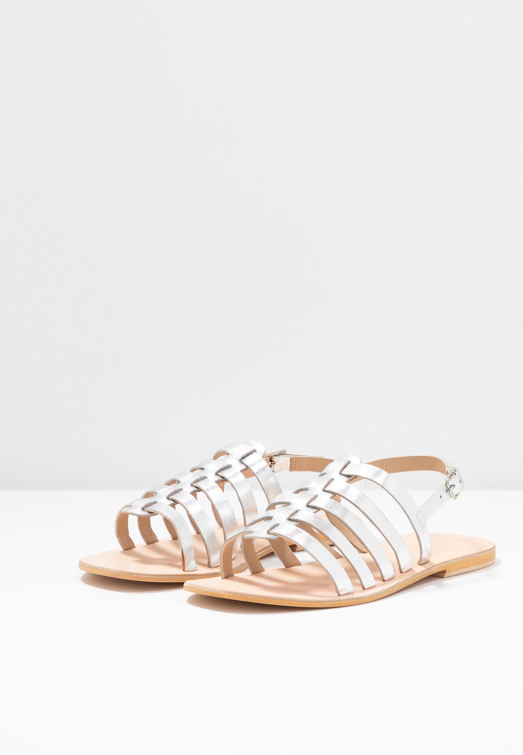 Warehouse Gladiator - Sandals Silver
