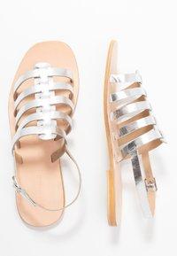 Warehouse - GLADIATOR  - Sandals - silver - 3
