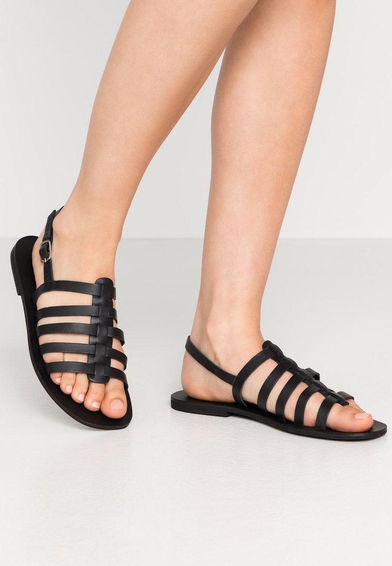 Warehouse - GLADIATOR  - Sandals - black