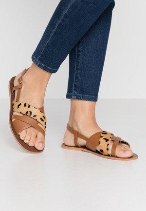 STRAP - Sandals - brown