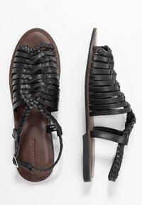 Warehouse - OPEN BACK HUARACHE - Sandals - black - 3