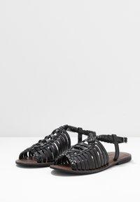 Warehouse - OPEN BACK HUARACHE - Sandals - black - 4