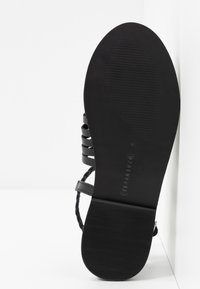 Warehouse - OPEN BACK HUARACHE - Sandals - black - 6