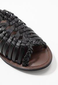 Warehouse - OPEN BACK HUARACHE - Sandals - black - 2