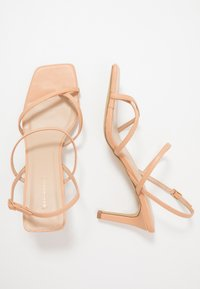 Warehouse - SQUARE TOE STRAPPY  - High heeled sandals - camel - 3