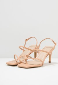 Warehouse - SQUARE TOE STRAPPY  - High heeled sandals - camel - 4
