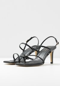 Warehouse - SQUARE TOE STRAPPY  - High heeled sandals - black - 4