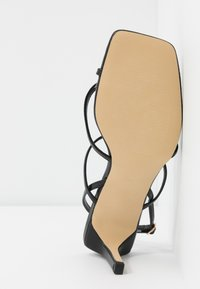 Warehouse - SQUARE TOE STRAPPY  - High heeled sandals - black - 6
