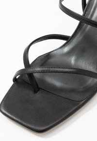 Warehouse - SQUARE TOE STRAPPY  - High heeled sandals - black - 2