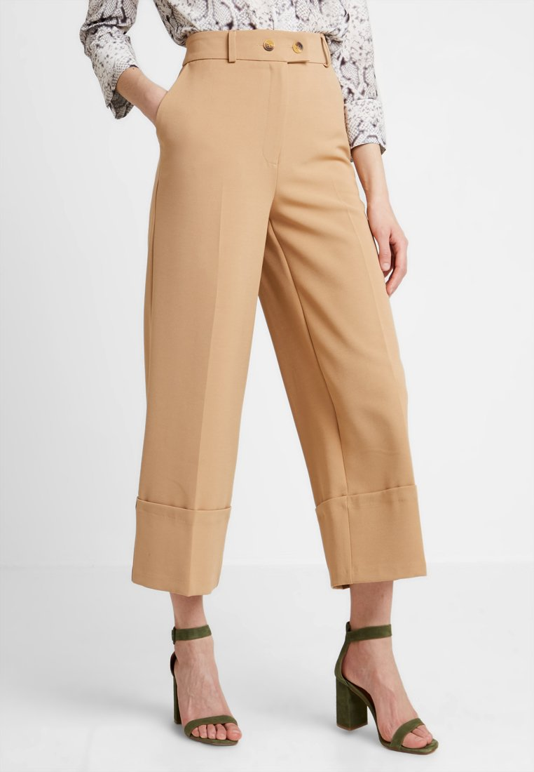 Warehouse - BUTTON TAB TROUSER - Kalhoty - camel