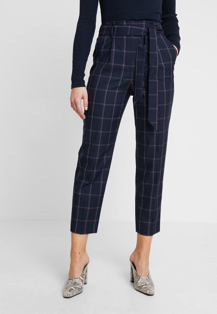 Warehouse - CHECK PEG TROUSER - Pantalon classique - dark blue