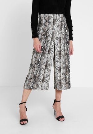 SNAKE CULOTTE - Trousers - grey