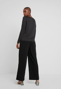 Warehouse - WIDE LEG TROUSERS - Trousers - black - 2