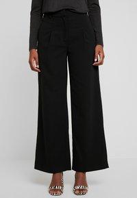 Warehouse - WIDE LEG TROUSERS - Trousers - black - 0