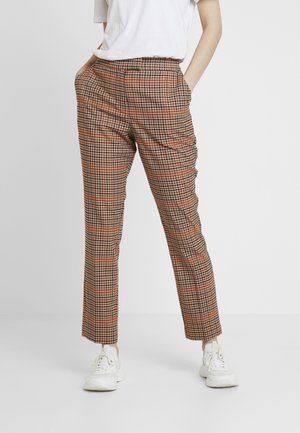 CHECK SLIM LEG - Pantalon classique - orange mix