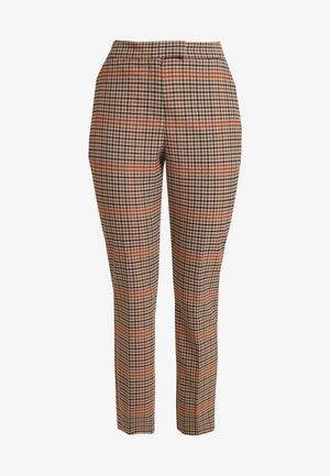 CHECK SLIM LEG - Pantalones - orange mix