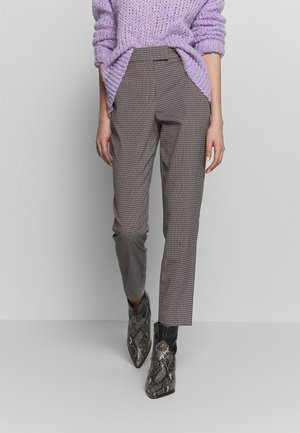 MINI MULTI CHECK SLIM LEG TROUSER - Pantaloni - black