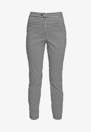 GINGHAM TROUSER - Bukse - black/white