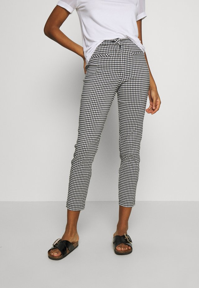 GINGHAM TROUSER - Trousers - black/white